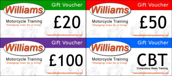 Williams Motorcycle Training Gift Vouchers